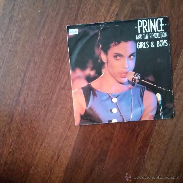 PRINCE AND THE REVOLUTION-GIRL & BOYS (Música - Discos de Vinilo - Singles - Pop - Rock Extranjero de los 80)