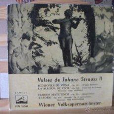 Discos de vinilo: EP VALSES DE JOHANN STRAUSS II, BOMBONES DE VIENA + 3, LA VOZ DE SU AMO, 7 EPL 13.244. Lote 51633059
