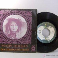 Discos de vinilo: MARY HOPKIN CANTA EN ESPAÑOL, QUE TIEMPO TAN FELIZ - GIRA, GIRA, GIRA 1968. Lote 51635163