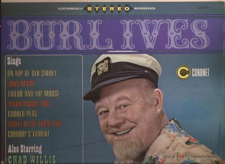 LP-BURL IVES / CHAD WILLIS & THE BEACHSTONES CORONET 271 USA 196??? FOLK (Música - Discos - LP Vinilo - Country y Folk)