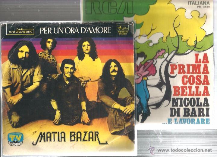 8 SINGLES ITALIA : MATIA BAZAR + N. DI BARI + G. MORANDI + NADA + M. RANIERI + I PROFETI + ROMINA (Música - Discos - Singles Vinilo - Canción Francesa e Italiana)