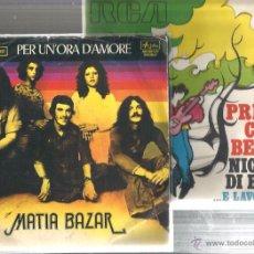 Discos de vinilo: 8 SINGLES ITALIA : MATIA BAZAR + N. DI BARI + G. MORANDI + NADA + M. RANIERI + I PROFETI + ROMINA . Lote 51645124