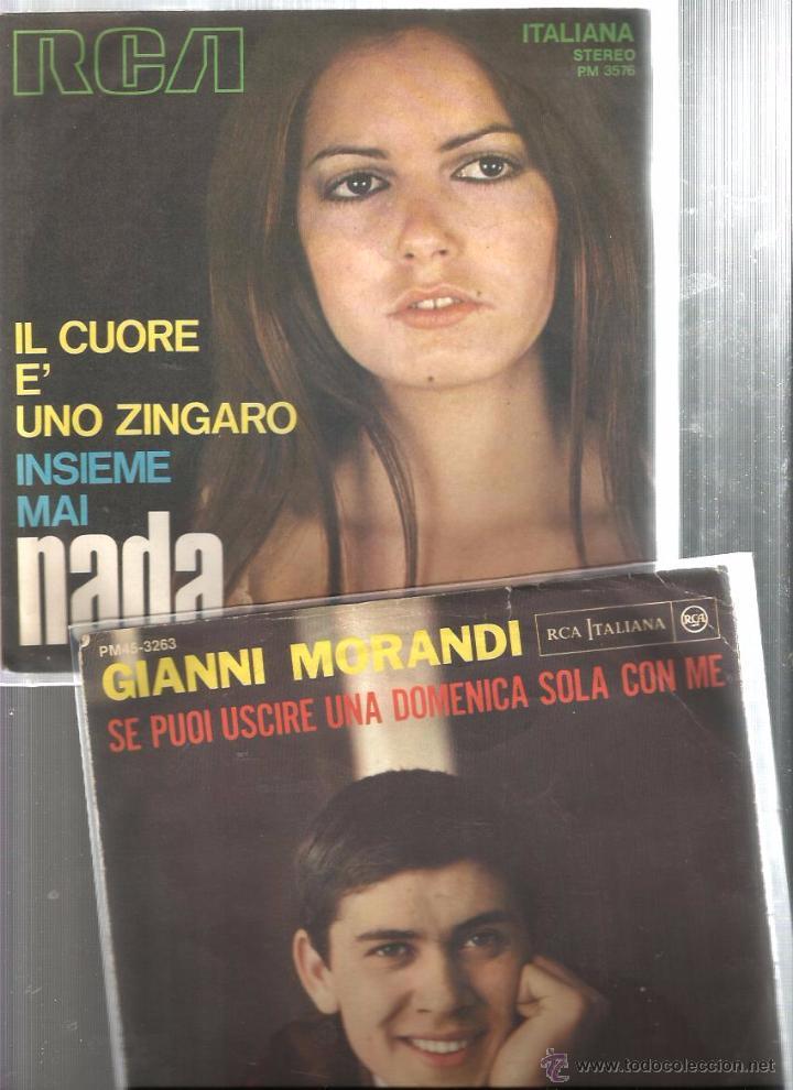 Discos de vinilo: 8 SINGLES ITALIA : MATIA BAZAR + N. DI BARI + G. MORANDI + NADA + M. RANIERI + I PROFETI + ROMINA - Foto 2 - 51645124