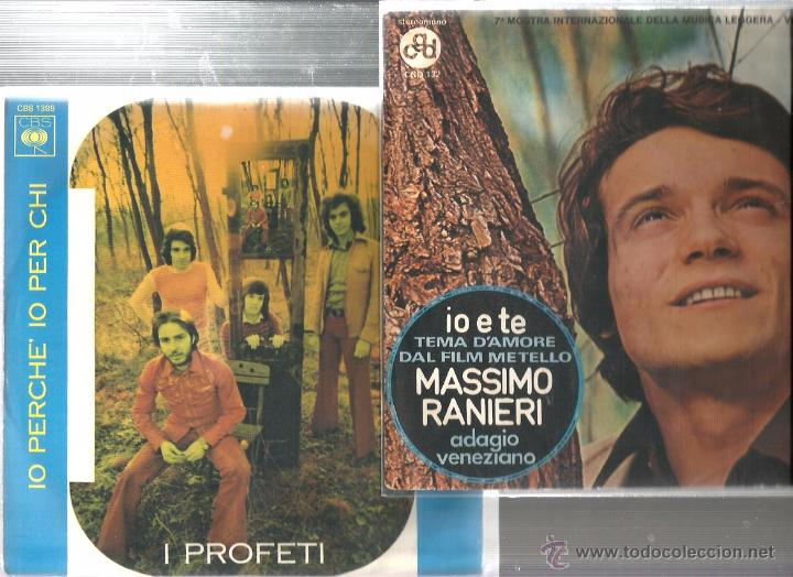 Discos de vinilo: 8 SINGLES ITALIA : MATIA BAZAR + N. DI BARI + G. MORANDI + NADA + M. RANIERI + I PROFETI + ROMINA - Foto 3 - 51645124