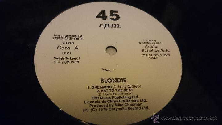Discos de vinilo: Blondie Dreaming Eat to the beat Amii Stewart jealousy hes a burglar Maxi single Promocional - Foto 5 - 51650068