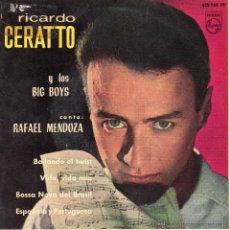 Discos de vinilo: RICARDO CERATTO Y LOS BIG BOYS, EP, BAILANDO EL TWIST + 3, AÑO 1963. Lote 51662713