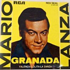 Discos de vinilo: EP. MARIO LANZA. GRANADA - LOLITA - VALENCIA - LA DANZA. Lote 51673103