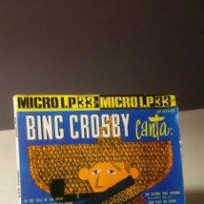 Discos de vinilo: BING CROSBY CANTA MICRO LP . Lote 51684507