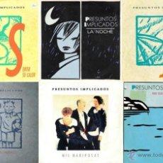Discos de vinilo: PRESUNTOS IMPLICADOS - LOTE DE 6 SINGLES PROMOCIONALES DE VINILO. Lote 51685339