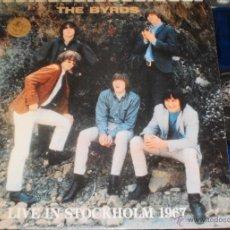 Discos de vinilo: THE BYRDS LP LIVE IN STOCKHOLM 1967.1989,VINILO AZUL. EN PERFECTO ESTADO. Lote 51695089