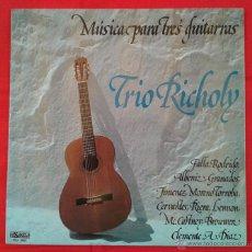 Discos de vinilo: TRIO RICHOLY - MUSICA PARA TRES GUITARRAS (LP). Lote 51708886