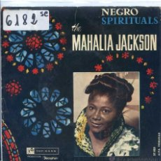 Discos de vinilo: MAHALIA JACKSON / IN THE UPPER ROOM / CITY CALLED HEAVEN + 1 (EP 1961) VINILO AZUL. Lote 51710576