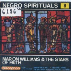 Discos de vinilo: MARION WILLIAMS & THE STARS OF FAITH / SURELY GOD IS ABLE / IT'S REAL + 2 (EP 1963). Lote 51710617