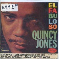 Discos de vinilo: QUINCY JONES / CARAVAN / CHEROKEE + 2 (EP 1960). Lote 51711346