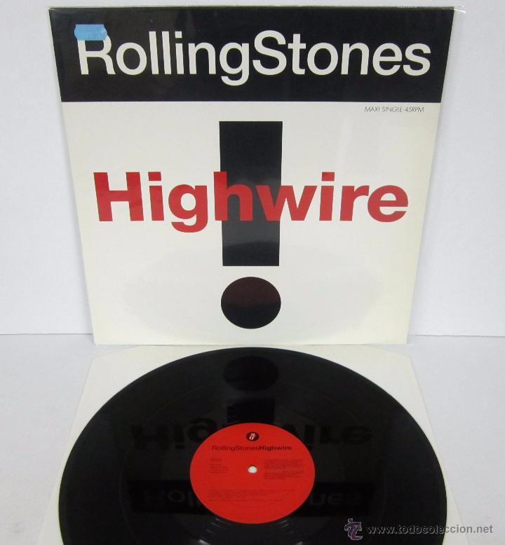THE ROLLING STONES - HIGHWIRE - MAXI 4 TEMAS UK 1991 MX - MINT (Música - Discos de Vinilo - Maxi Singles - Pop - Rock Extranjero de los 50 y 60)