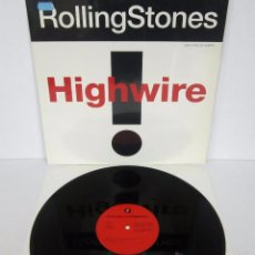 Discos de vinilo: THE ROLLING STONES - HIGHWIRE - MAXI 4 TEMAS UK 1991 MX - MINT. Lote 51716201