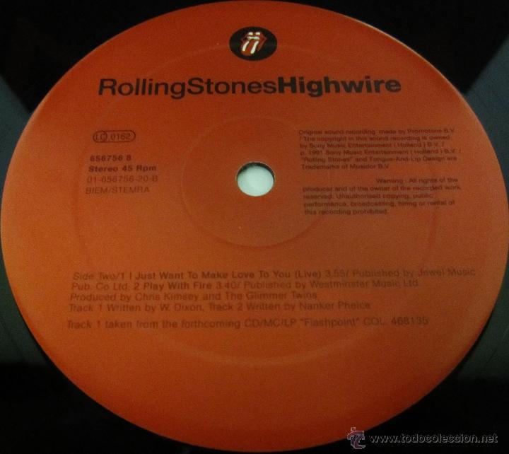 Discos de vinilo: THE ROLLING STONES - HIGHWIRE - MAXI 4 TEMAS UK 1991 MX - MINT - Foto 3 - 51716201