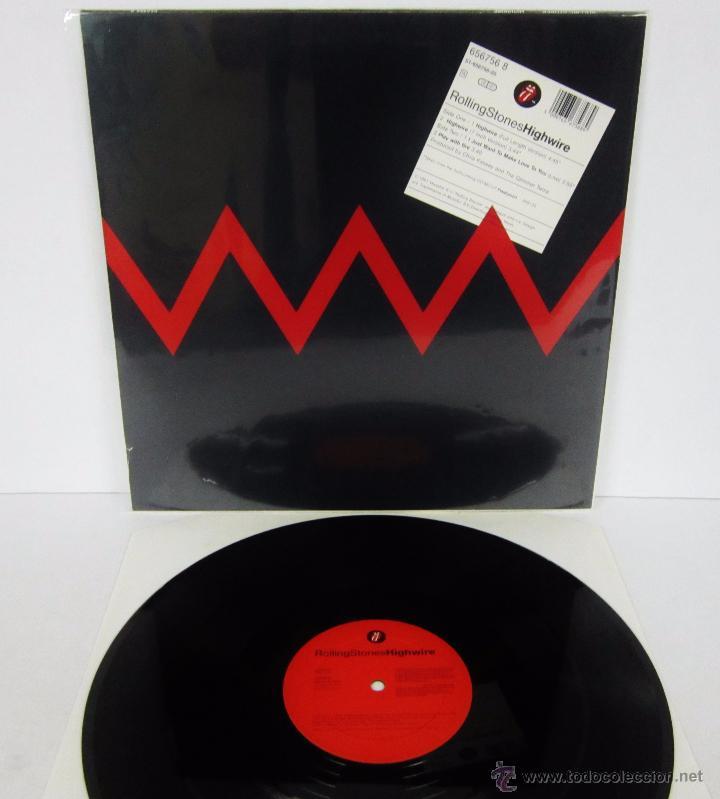 Discos de vinilo: THE ROLLING STONES - HIGHWIRE - MAXI 4 TEMAS UK 1991 MX - MINT - Foto 4 - 51716201
