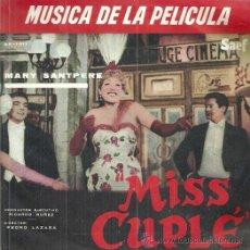 Discos de vinilo: MARY SANTPERE EP SELLO SAEF AÑO 1959 EDITADO EN ESPAÑA, DE LA PELICULA MISS CUPLE.. Lote 51720484