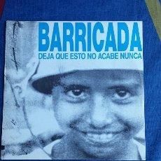 Discos de vinilo: DISCO VINILO SINGLE PROMOCIONAL DE BARRICADA 1991 MUY RARO. Lote 51723769