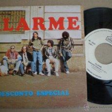 Discos de vinilo: ALARME - DESCONTO...+1 - SG PORTUGAL IMAVOX 1982 // HARD ROCK FUZZ STONER METAL XARHANGA ((ESCUCHA)). Lote 51724766