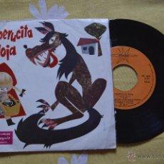 Discos de vinilo: DISCO-CUENTO CAPERUCITA ROJA - MARFER, AÑO 1974,45 R.P.M.. Lote 51729128