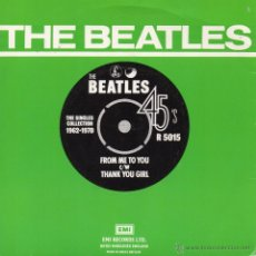 Discos de vinilo: BEATLES, THE, - SINGLES COLLECTION 1962-1970, SG, FROM ME TO YOU + 1, AÑO 19?? MADE IN GREAT BRITAIN. Lote 51736287