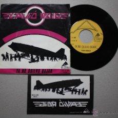Discos de vinilo: L´AVIO ROIG- YA NO QUIERO BAJAR- SPANISH HEAVY ROCK- SINGLE 1983 + 3 STICKERS PROMOS- ULTRA RARE.. Lote 51763438
