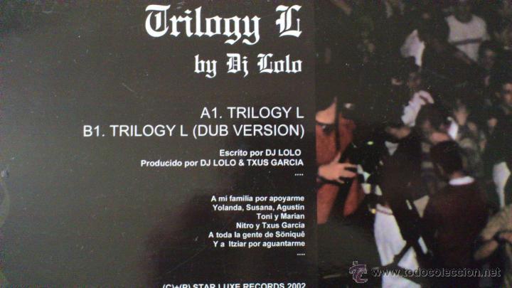 Discos de vinilo: TRILOGY G - BY DJ LOLO - TXUS GARCIA - MAXI - VINILO - 12 - STARLUXE - NEW RECORDS - 2002 - Foto 3 - 51771099