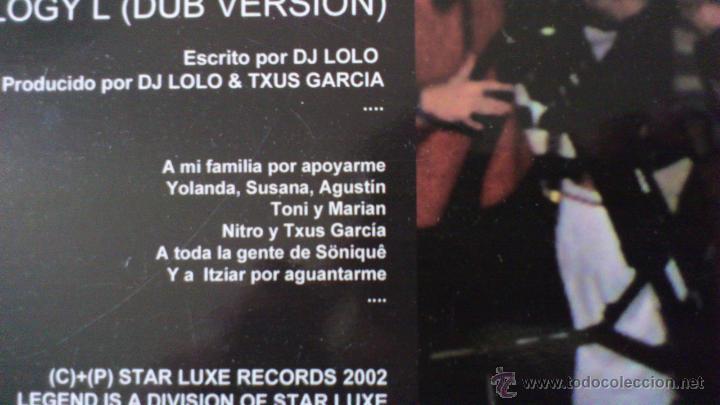 Discos de vinilo: TRILOGY G - BY DJ LOLO - TXUS GARCIA - MAXI - VINILO - 12 - STARLUXE - NEW RECORDS - 2002 - Foto 4 - 51771099