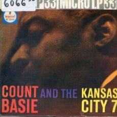 Discos de vinilo: COUNT BASIE AND KANSAS CITY 5 / EL LIMPIABOTAS + 2 (MICRO LP 33 RPM 4 TEMAS 1961) PORTADA ABIERTA. Lote 51771107