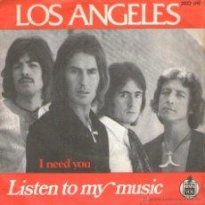 """Discos de vinilo: LOS ANGELES - SINGLE VINILO 7"""" - EDITADO EN FRANCIA - LISTEN TO MY MUSIC + I NEED YOU. Lote 51771913"""
