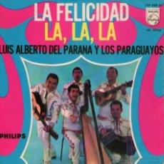 Discos de vinilo: LUIS ALBERTO DEL PARANÁ - LA, LA, LA (EUROVISIÓN 1968) + 3 - EP 7'' - EDITADO EN PORTUGAL - PHILIPS. Lote 51771957