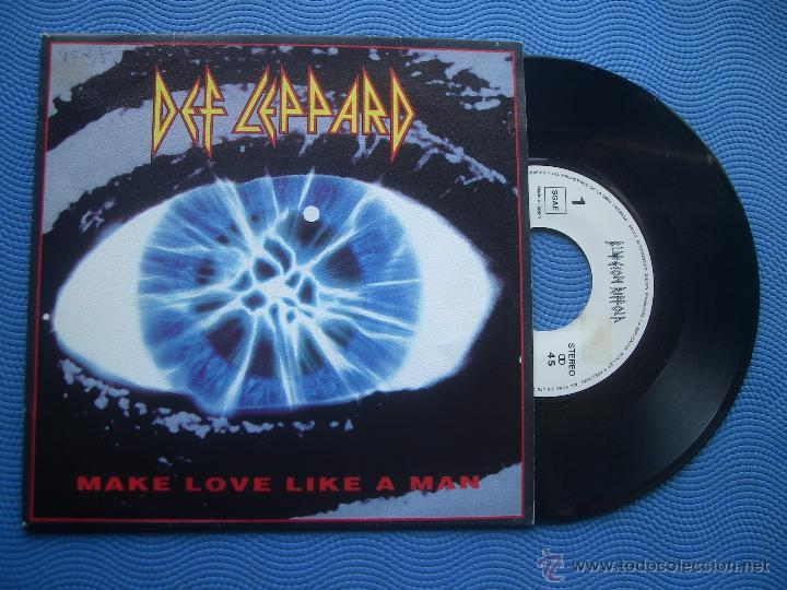 DEF LEPPARD MAKE LOVE LIKE A MAN SINGLE SPAIN 1992 PROMO PDELUXE (Música - Discos - Singles Vinilo - Heavy - Metal)