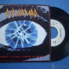 Discos de vinilo: DEF LEPPARD MAKE LOVE LIKE A MAN SINGLE SPAIN 1992 PROMO PDELUXE. Lote 51773499
