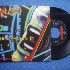 Disques de vinyle: DEF LEPPARD ARMAGEDON IT / RING OF FIRE SINGLE SPAIN 1988 PDELUXE. Lote 51773710