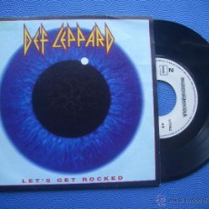 Discos de vinilo: DEF LEPPARD LET´S GET ROCKED SINGLE SPAIN 1992 PDELUXE. Lote 51773815