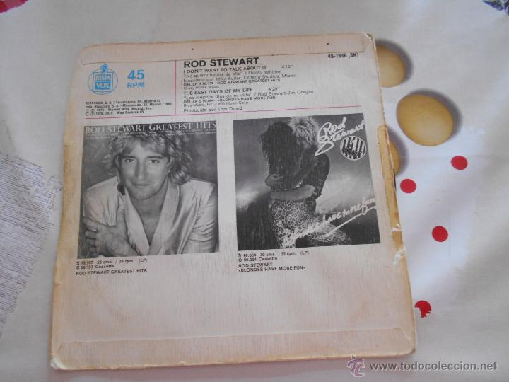 Discos de vinilo: Discos de vinilo: I DON`T WANT TO TALK ABOUTI IT. ROD STEWART, 1975. Lote 38361423 I DON`T WANT TO TALK ABOUTI IT. - Foto 2 - 51774147
