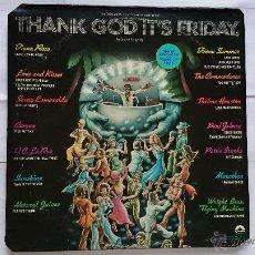 Discos de vinilo: VARIOS - BSO 'POR FIN YA ES VIERNES' / OST 'THANK GOD IT'S FRIDAY' (DOBLE LP+MAXI 1ª EDIC. US 1978). Lote 51778049