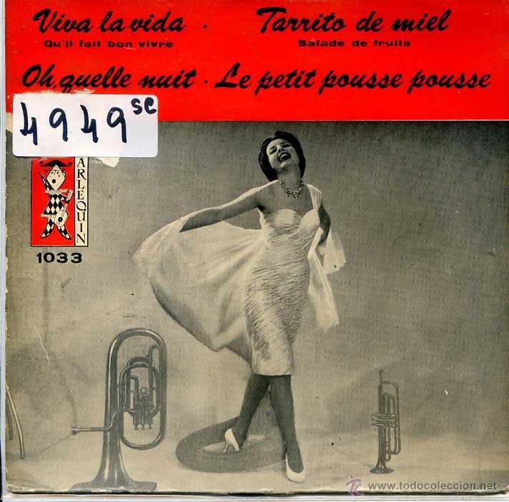 VIVA LA VIDA - JEAN JACQUES BERNAD + TARRITO DE MIEL + 2 (EP 1960) (Música - Discos de Vinilo - EPs - Orquestas)