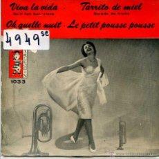 Discos de vinilo: VIVA LA VIDA - JEAN JACQUES BERNAD + TARRITO DE MIEL + 2 (EP 1960). Lote 51779329