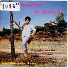 Discos de vinilo: CANCIONES DE AMERICA / JANIE ROSS / IT MIGHT AS WELL UNTIEL SEPTEMBER + 3 (EP 1962). Lote 51779612