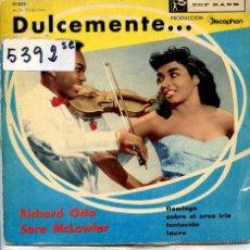 Discos de vinilo: RICHARD OTTO Y SARAH MCLAWLER / FLAMINGO / LAURA / OVER THE RAINBOW / TENTACION (EP 1960) VINILO AZU. Lote 51781345