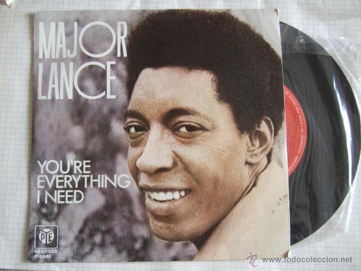 SINGLE - MAJOR LANCE - PYE 1975 - YOU'RE EVERYTHING I NEED - - 2 VERSIONES (Música - Discos - Singles Vinilo - Otros estilos)