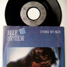 Discos de vinilo: BLUE SYSTEM. UNDER MY SKIN. SINGLE HANSA 111699. GERMANY 1988. DIETER BOHLEN. MODERN TALKING.. Lote 51786187