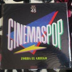 Discos de vinilo: CINEMASPOP - ZORBA EL GRIEGO - JAMES BOND 007 - MAXI - VINILO - 12 - WEA - 1983. Lote 51788667