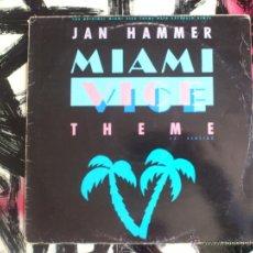 Discos de vinilo: JAN HAMMER - MIAMI VICE THEME - MAXI - VINILO -12 - WARNER - 1985. Lote 51788915