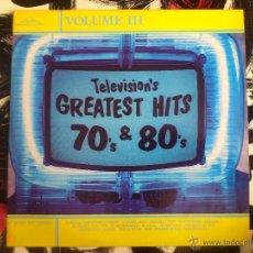 Discos de vinilo: TELEVISION´S GREATEST HITS 70´S & 80´S - VOLUME III - DOBLE LP - VINILO - SILVA SCREEN - 1987. Lote 51791527