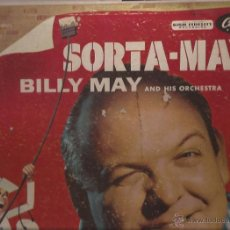 Discos de vinilo: LP-BILLY MAY SORTA MAY CAPITOL 562 USA 195??? EASY LISTENING LABEL TURQUESA. Lote 51793627