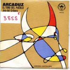 Discos de vinilo: ARCADUZ / EL TORO DEL PUEBLO / JOTA DEL CRIBERO (SINGLE 1978). Lote 51793633